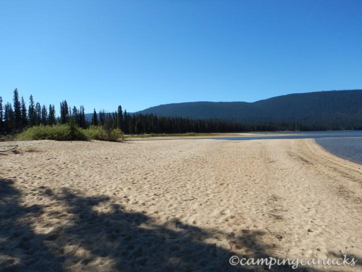 Beach at Murtle Lagoon camp