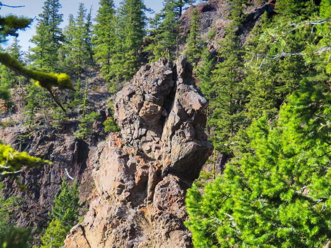 Rock shaped like a head