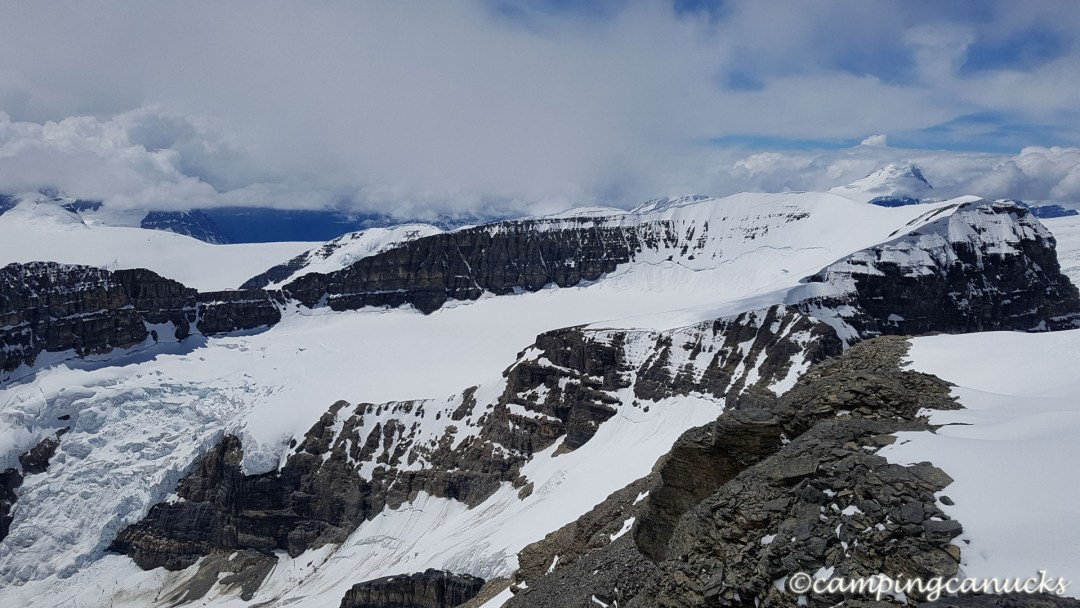 Looking towards the Mount Columbia and the Columbia Icefields