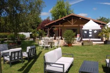 Vue de notre restaurant et terrasse
