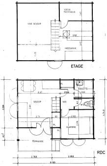 Plan chalet Mezzanine