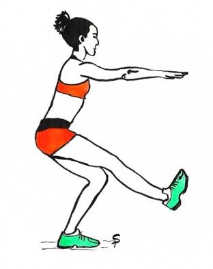Esercizi gambe arrampicata pistol squat