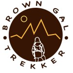 Brown Girl Tracker Logo Dont date a girl who treks 1