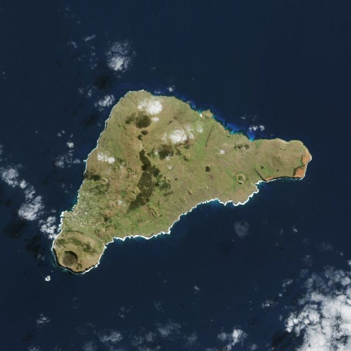 Easter Island from space