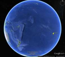 Location of Pitcairn Island on Google Earth