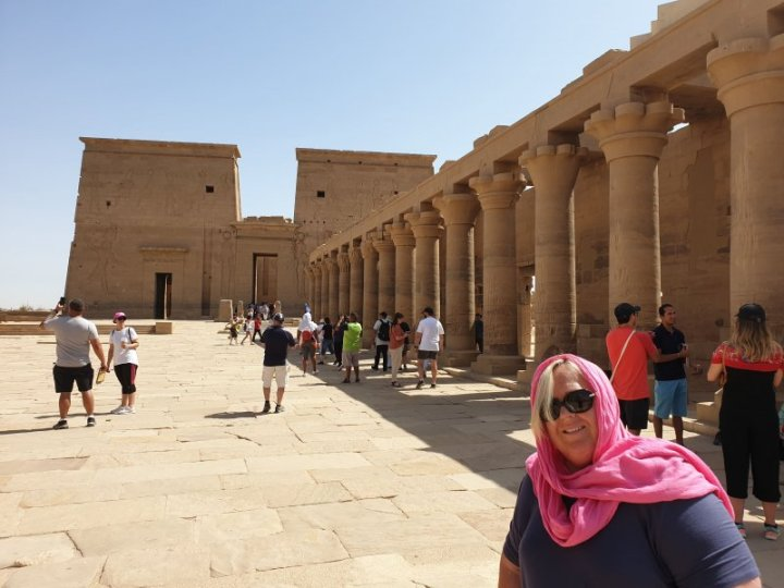At the Entrance to Philae Temple.