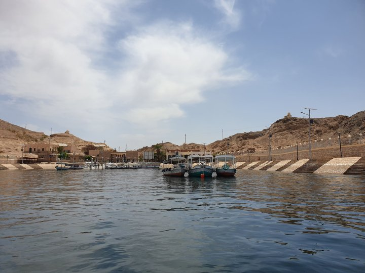 Not a bad spot from which to explore northern Lake Nasser.