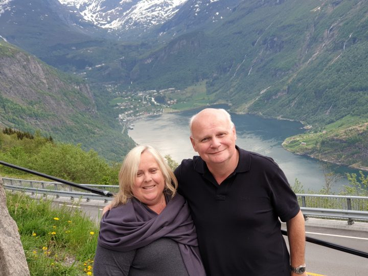 Looking down at Geiranger Norway