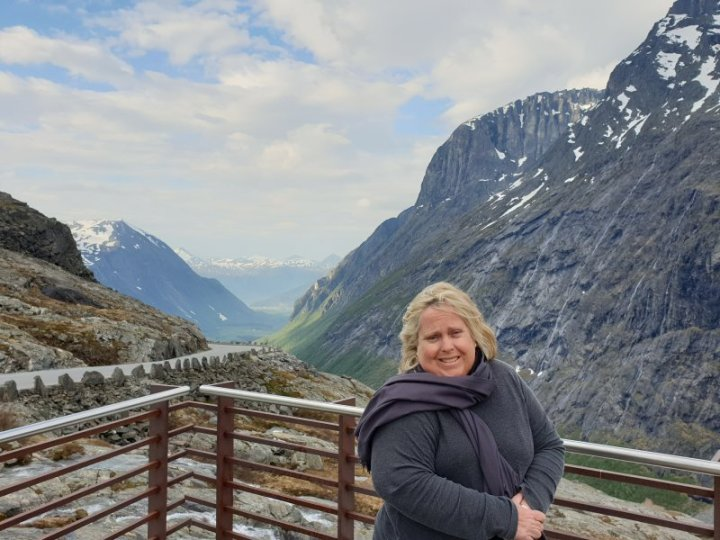 Nicole Anderson at the Top of Trollstigen Pass