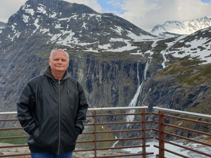James Visser at Trollfossen Norway