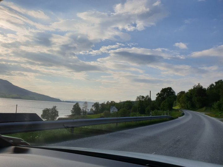 Heading toward Atlantic Road Norway