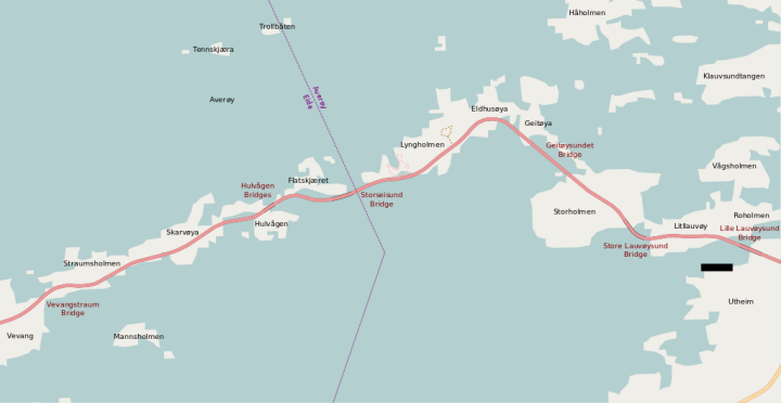 Map of The Atlantic Road Norway