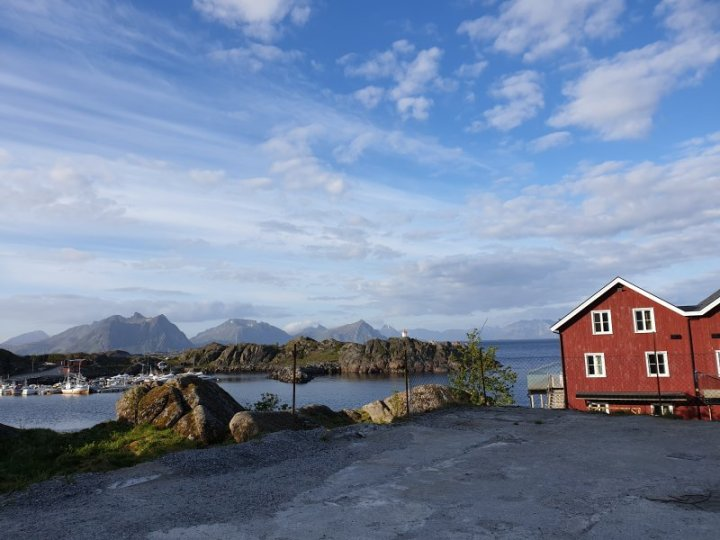 Start of road trip from Stamsund Norway
