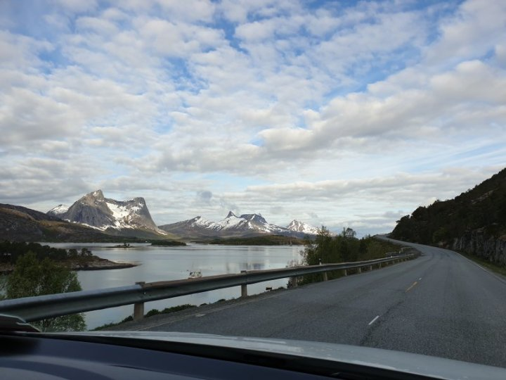 Highway driving within the arctic circle Norway