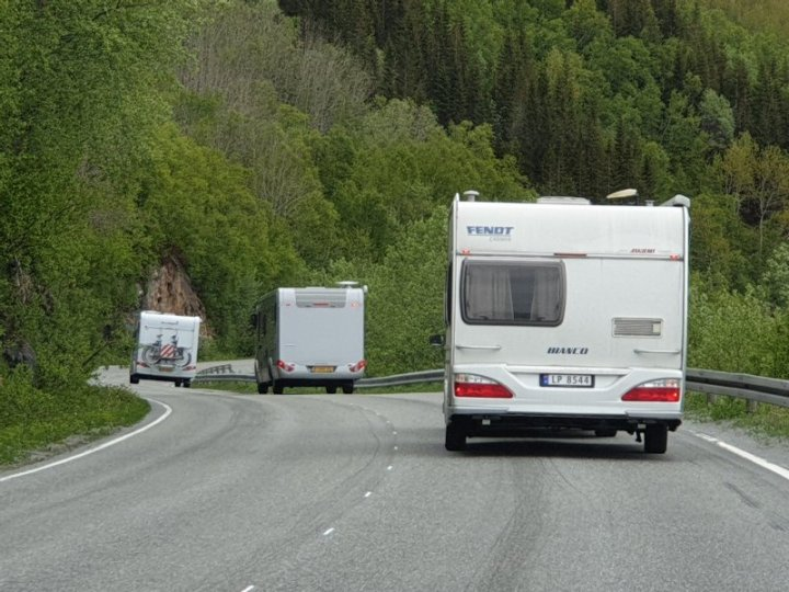 Motorhomes in the arctic circle Norway