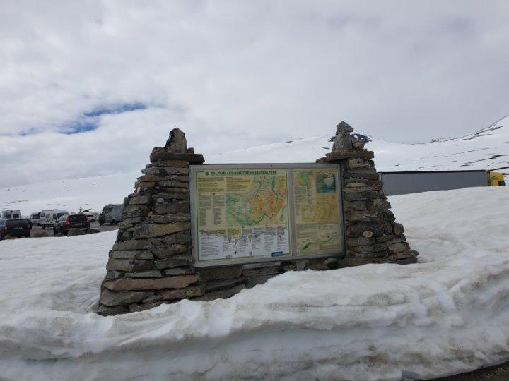 The Saltfjellet–Svartisen Park Marker