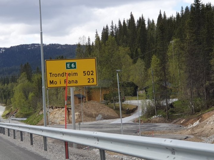 Along to E6 Highway in Norway