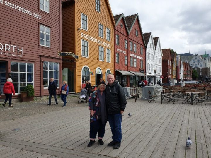 James Visser and Nicole Anderson at Bryggen Norway