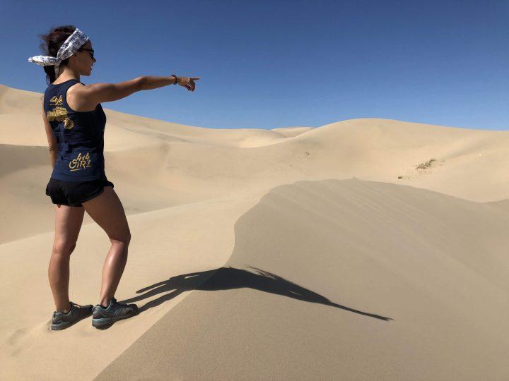 Evelin in the desert