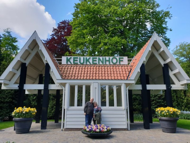 James and I at the old entrance to Keukenhof.