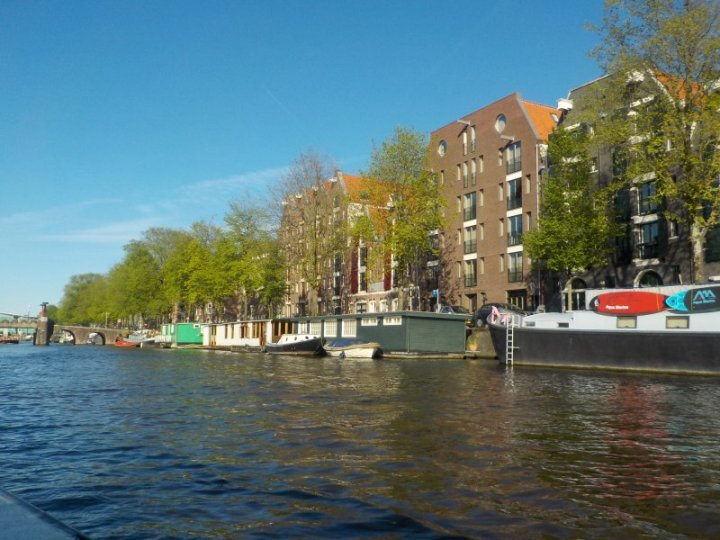Whether you are lucky enough to have an apartment or a house boat along this canal, you have wonderful water views.