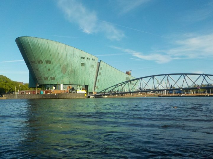 Looking across to the NEMO Science Museum