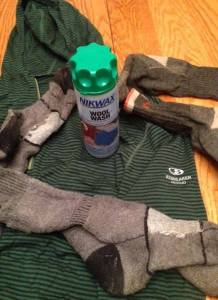 Take care of washing expensive hiking clothing by using products meant for the job, like Nikwax Wool Wash.