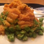 Homemade Backpacking Meal: Mashed Sweet Potatoes with Green Beans