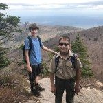 Two scouts from Rochelle Park Troop 114 admiring the view from Blackdome Mountain in the Catskills.