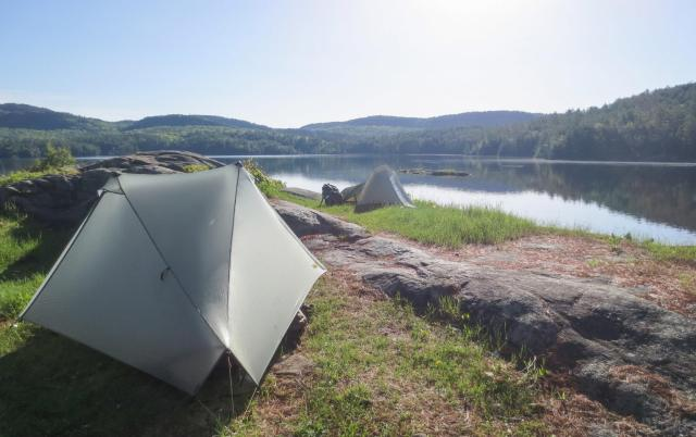 Tarptent Notch at Pharaoh Lake in New York's Adirondacks.