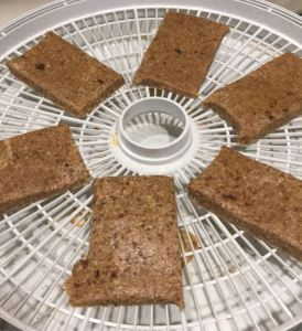 Use a dehydrator to dry your homemade energy bars.