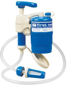 The first need water filter will remove viruses and some chemicals.
