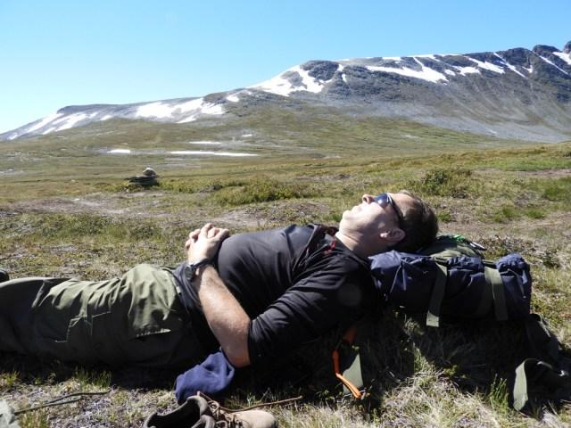 Odpoczynek na szlaku Gjevilvatnet i okolica