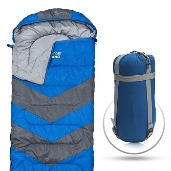 Envelope Lightweight Portable, Waterproof, Comfort With Compression Sack