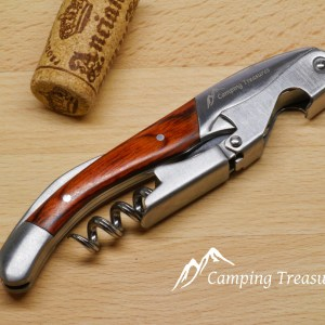 CT Wine Corkscrew, Stainless Steel & Wood