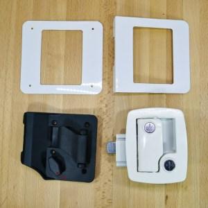 Boler – Door Lock Replacement Kit – White – Fits Scamp & 1968-1974 Boler