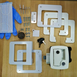 Boler – Door Lock Replacement Kit – White – Fits Scamp & 1968-1974 Boler