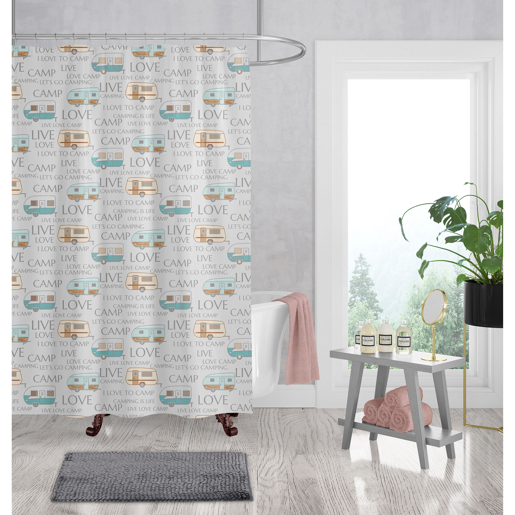 rv shower curtains doors camping world
