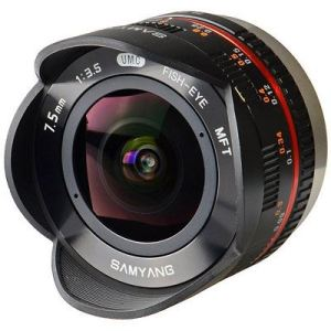 Samyang 7.5mm f3.5 UMC Fish-Eye Lens - Black - Micro Four Thirds