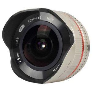 Samyang 7.5mm f3.5 UMC Fish-Eye Lens - Silver - Micro Four Thirds