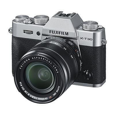 Fujifilm X-T30 Digital Camera with XF 18-55mm Lens - Silver
