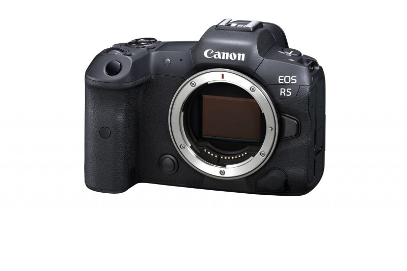 Canon R5 front slanted
