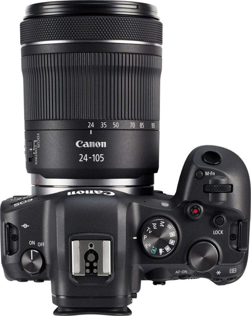 Canon R6 + 24-105 Lens top view