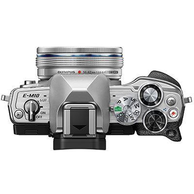 Olympus EM10 IV top with lens