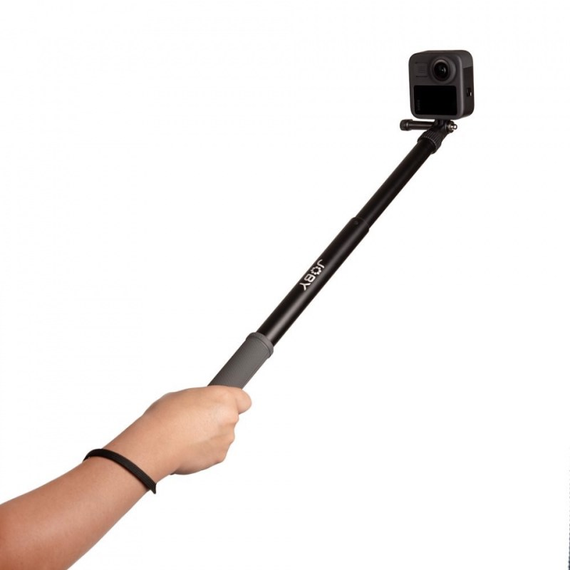 action pole joby telepod sport jb01657 bww 3 collapsed in hand gopro