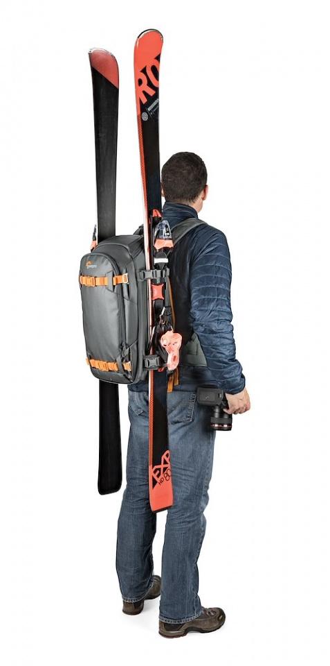 camera backpack whistler bp 350 aw ii lp37226 skis onbody