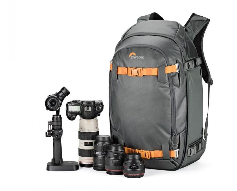 camera backpack whistler bp 450 aw lp37227 left dji osmopro canon5dmk4