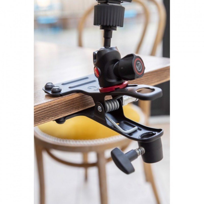 lighting clamps and arms manfrotto cold shoe spring clamp 175f 2 in action 06