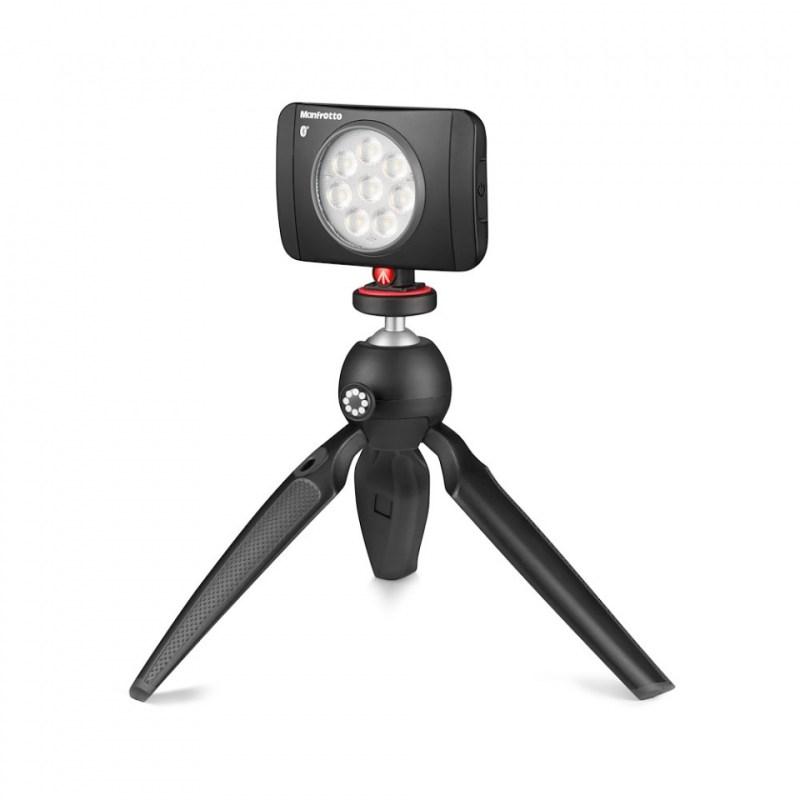 mini tripod joby handypod jb01555 bww open with led light