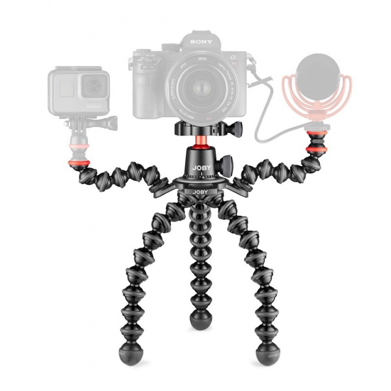 photo tripod joby gp 3k pro rig jb01567 bww gopro wavo mic ghost